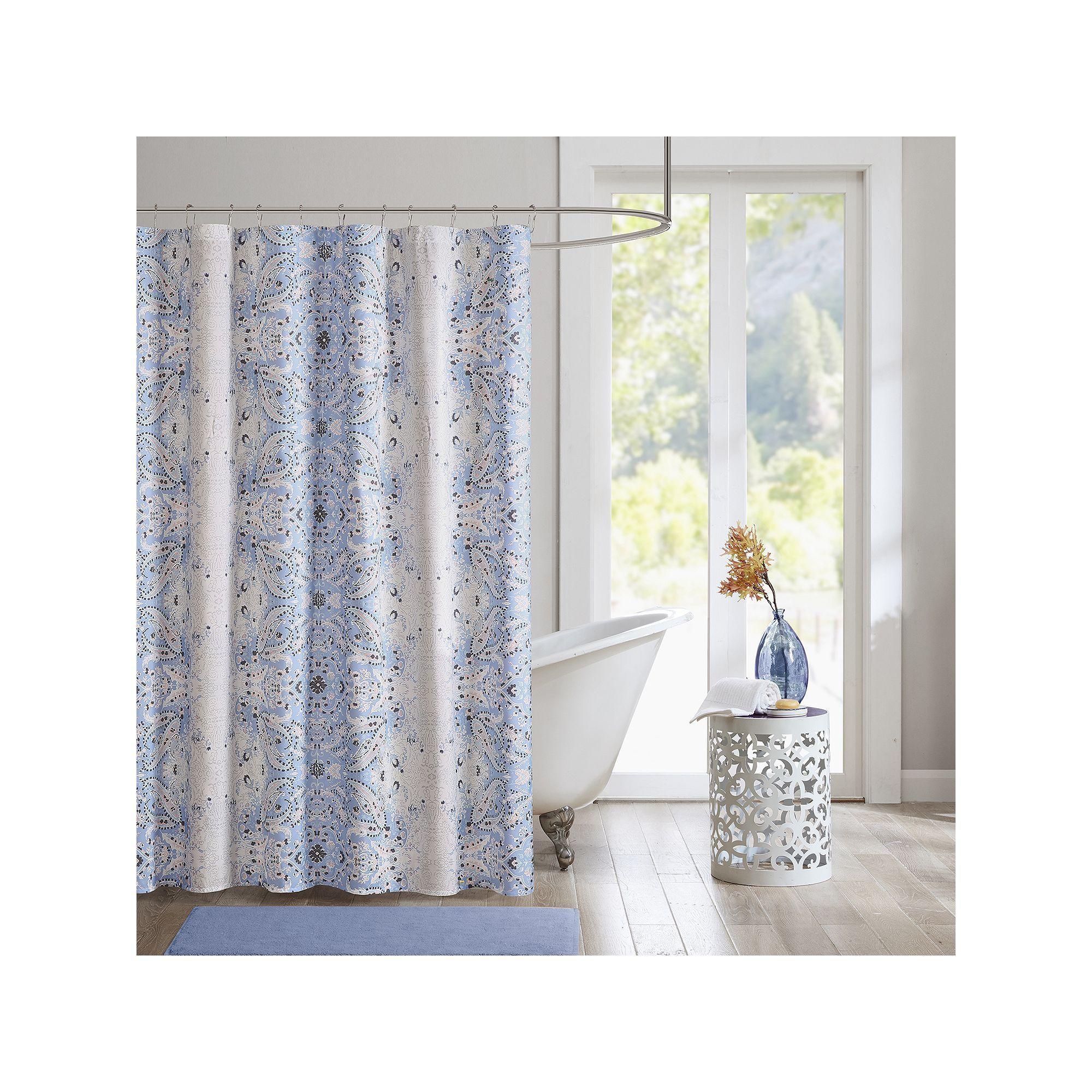Intelligent design raina microfiber printed shower curtain products
