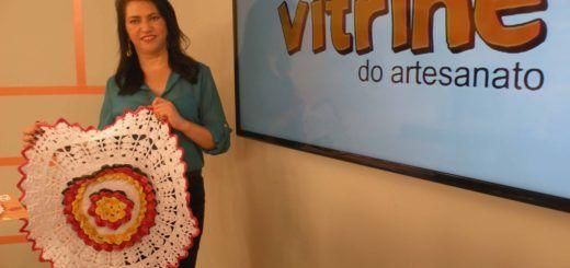 Tapete Floral com Maria José   Vitrine do Artesnato na TV