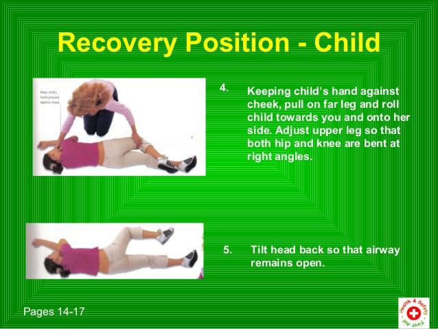 Recovery Position Child Recovery Position First Aid For Kids