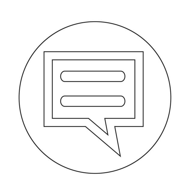 Talking Bubble Chat Icon Vector And Png