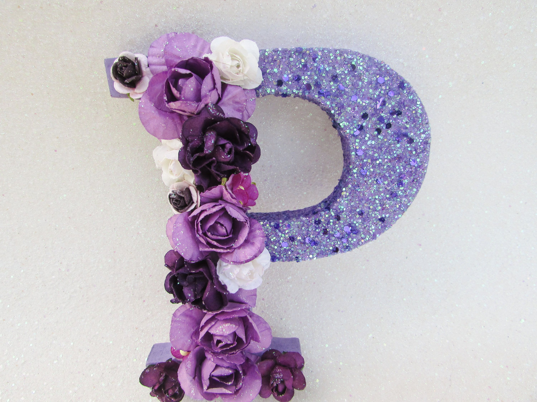 Custom name letter Floral name letter Flower letter P