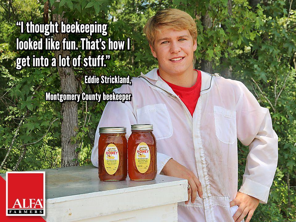 Montgomery County beekeeper Eddie Strickland Farmer