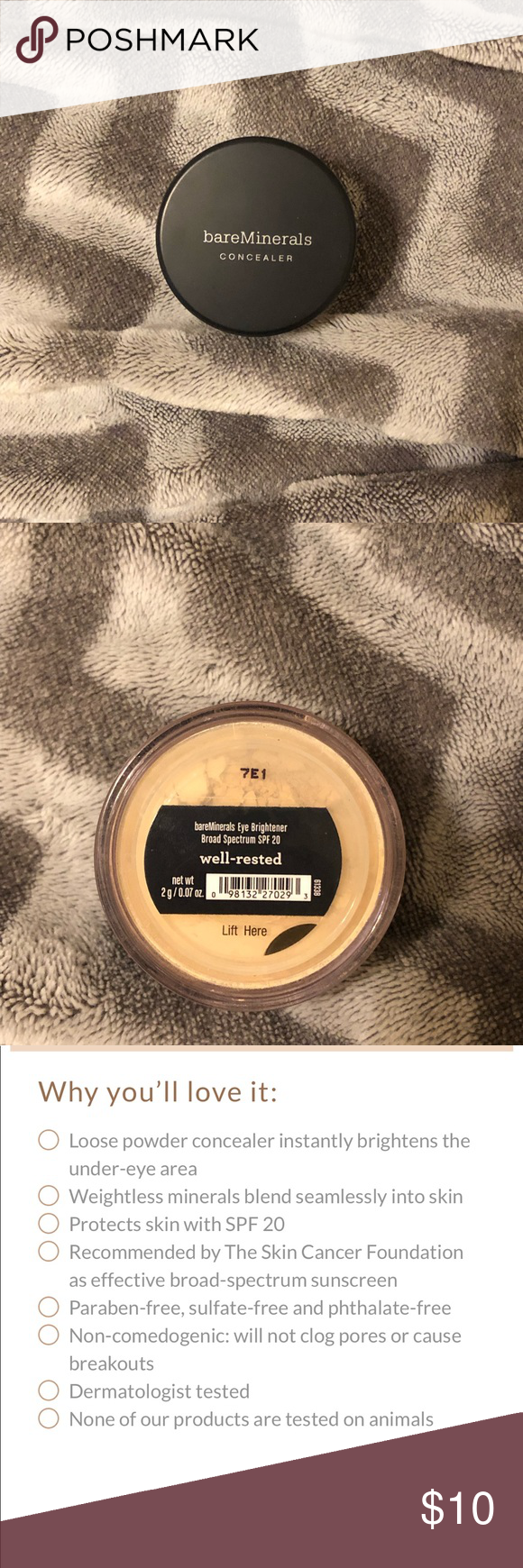 Bareminerals Well Rested Powder Concealer Bareminerals Bare Minerals Concealer Concealer