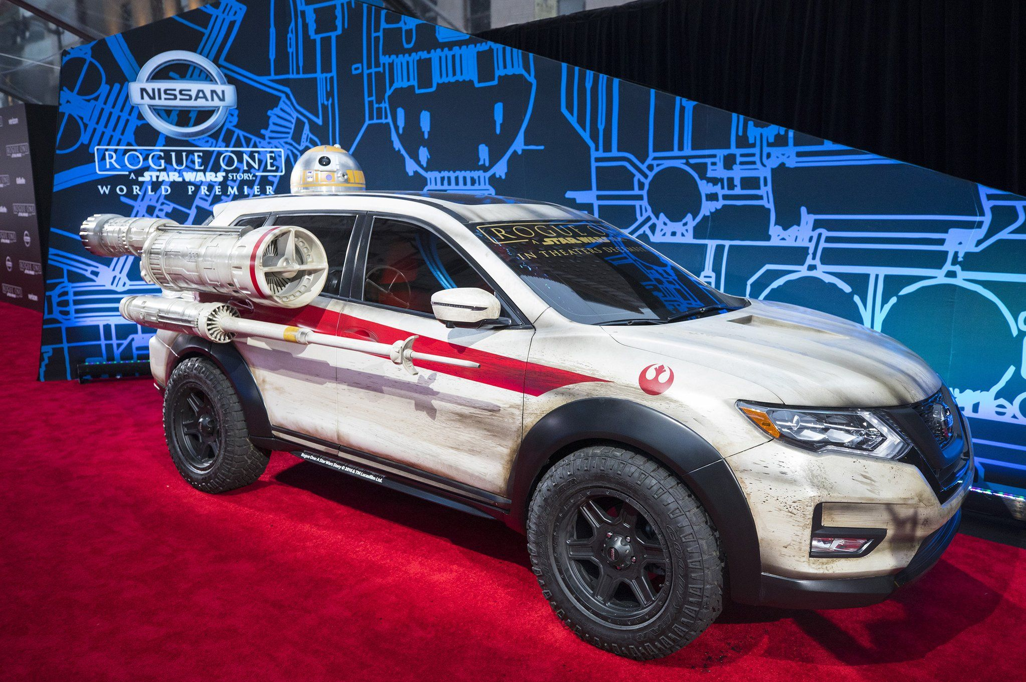 Rogue One A Star Wars Story Opens In Theaters Today This X Wing Inspired Nissan Rogue Turned Heads At The World Premiere Last Weekend Starwars Rogueone Go
