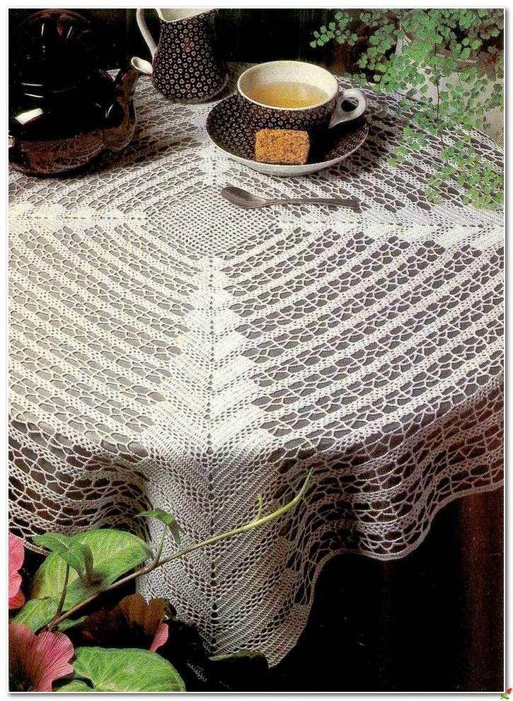 Crochet and arts: crochet tablecloth