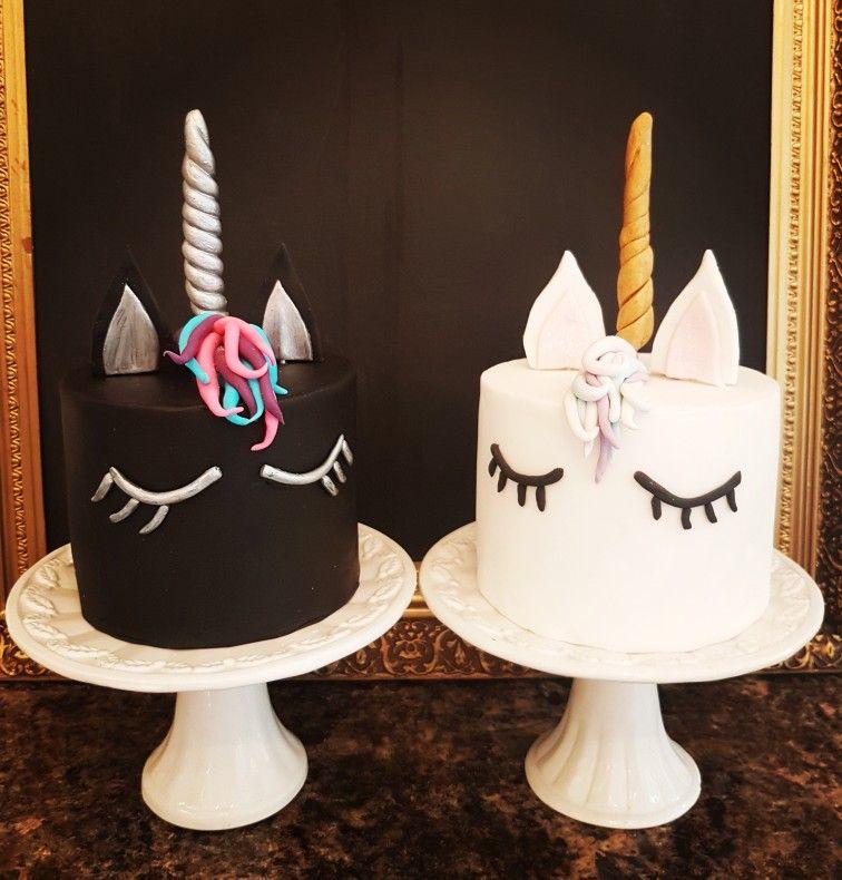 Black White Unicorn Cakes Original Design By Lilliolivercakescouk