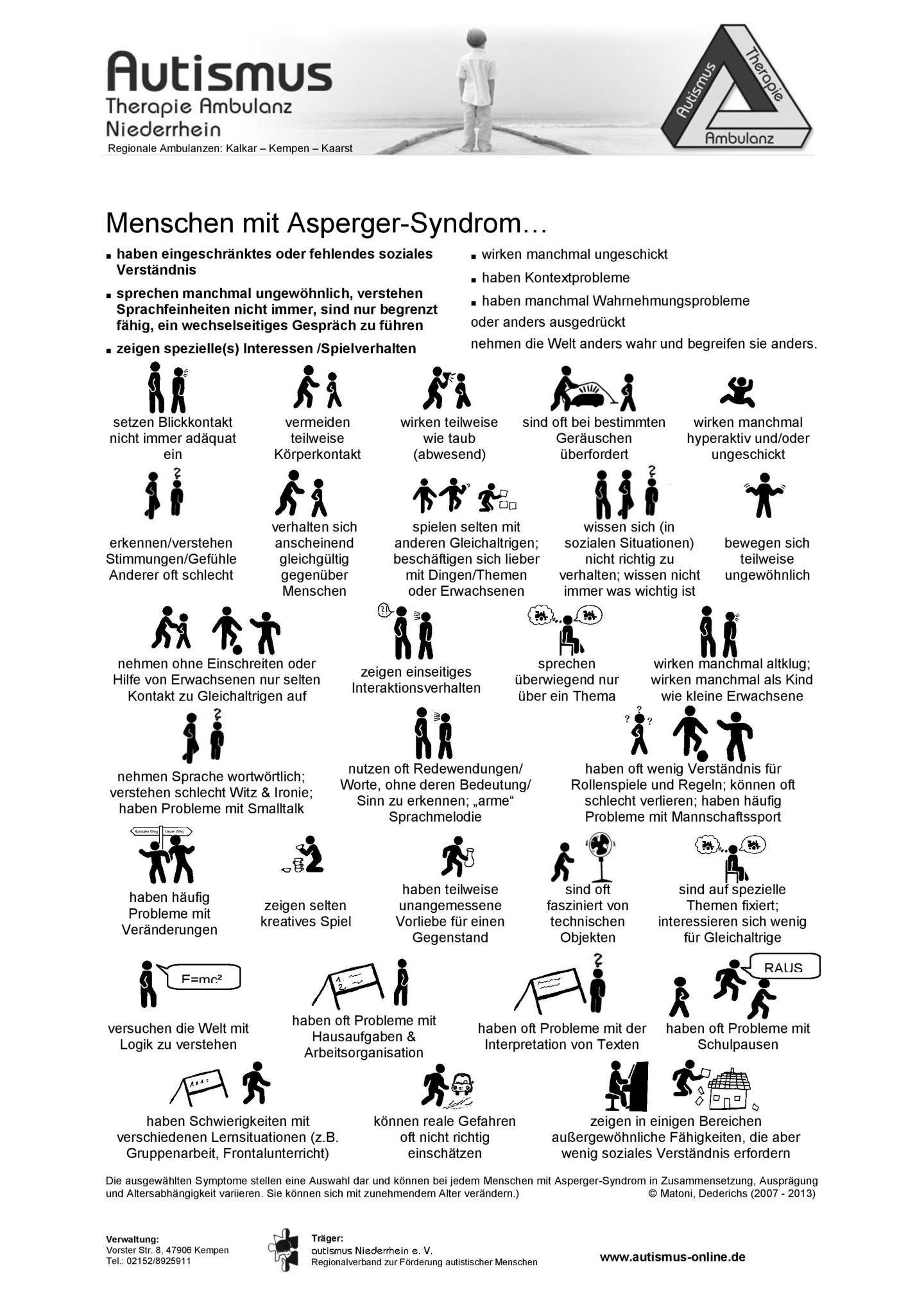 Erwachsene merkmale syndrom asperger Asperger