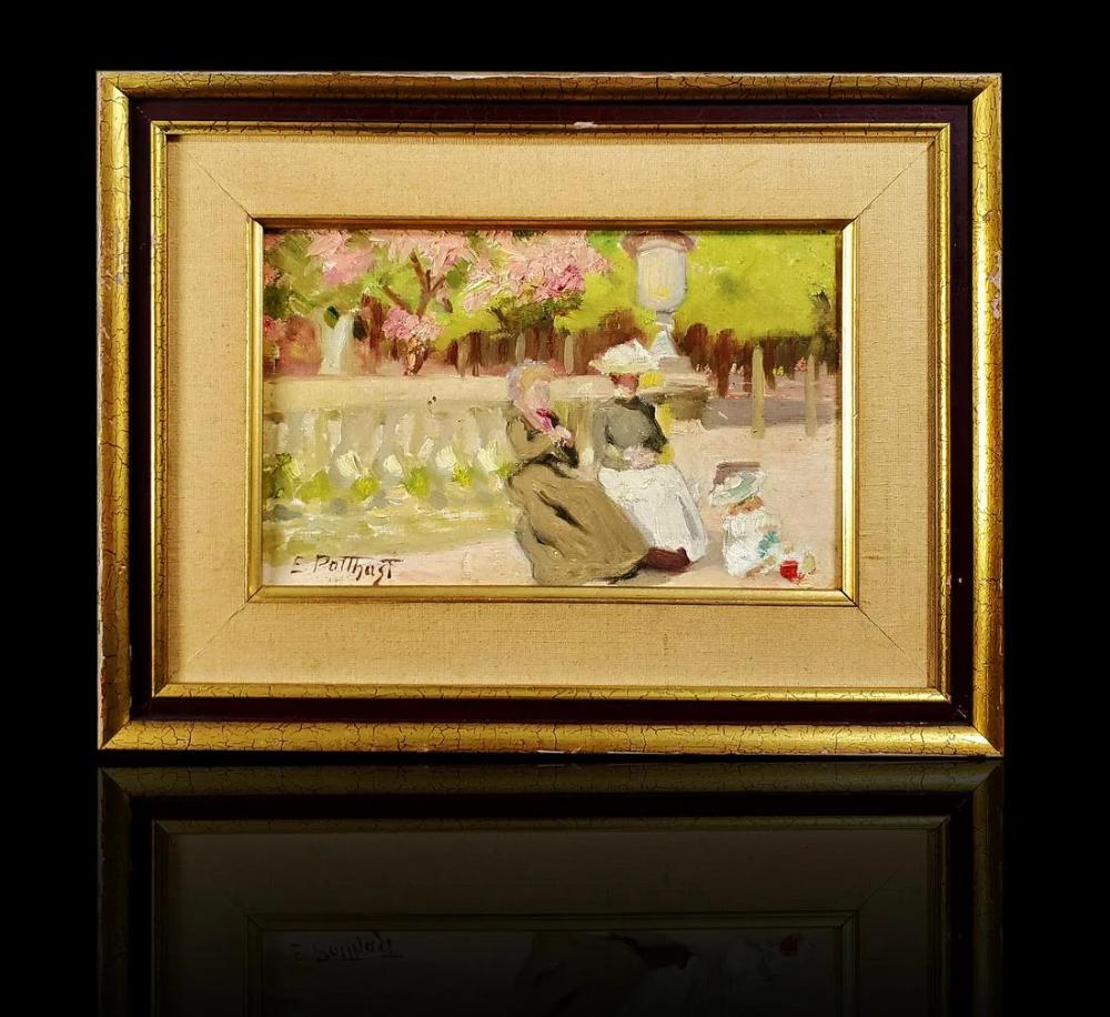 Edward Henry Potthast 18571927 landscape painting. Frame