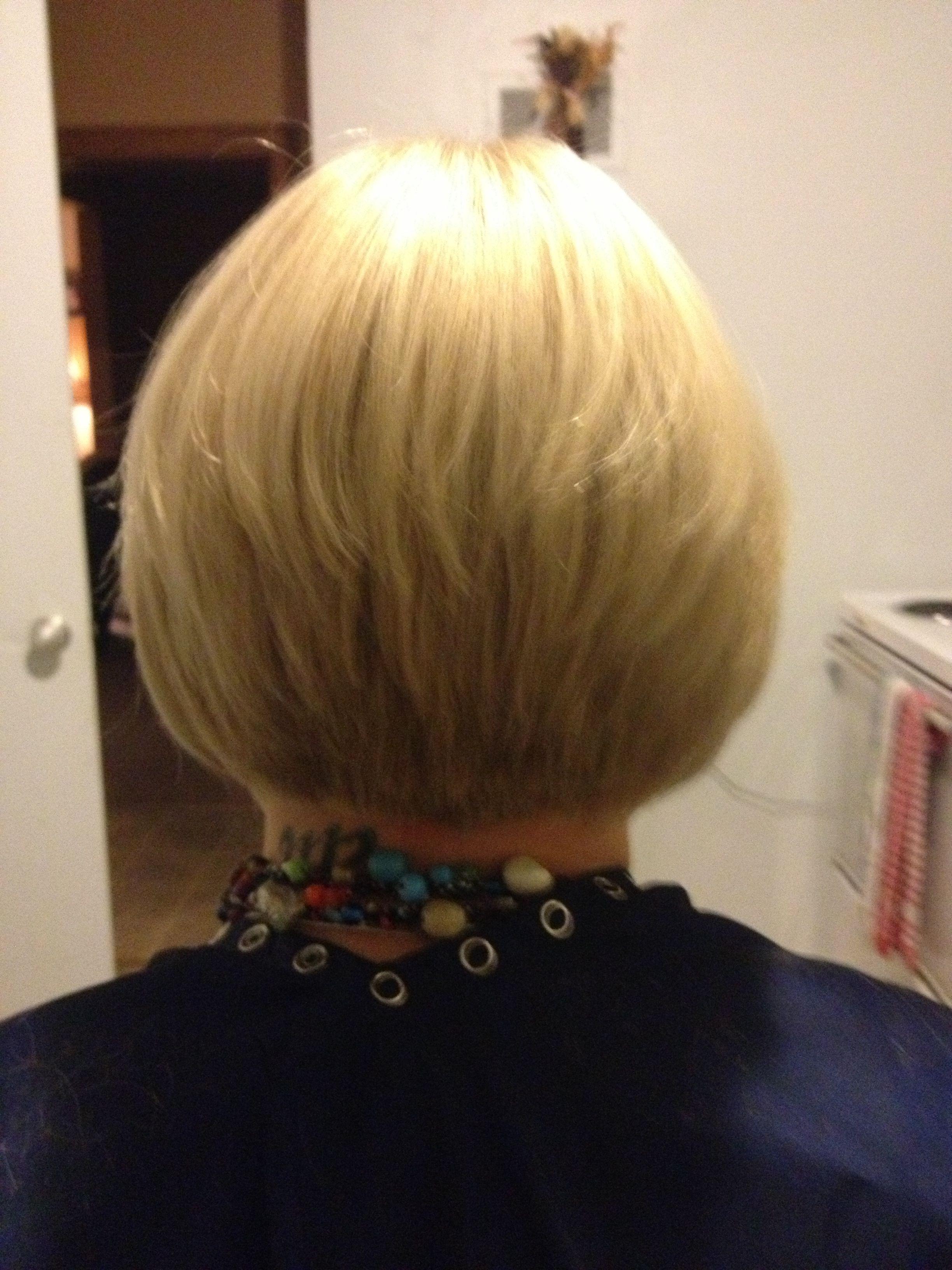 Short hair tapered bob back view hair pinterest tapered bob