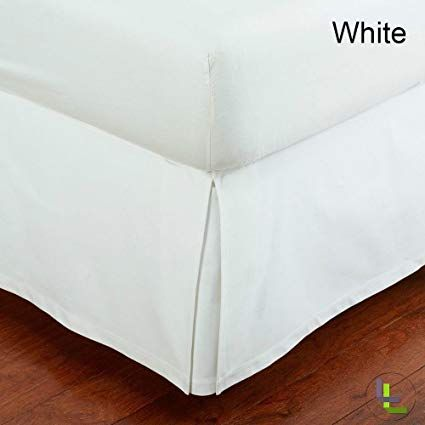 100 Egyptian Cotton 9 Inch Fall Bed Skirt 400 Tc Solid Pattern All Sizes Colors Full White Luxurybeddingsilver Luxuryhomes Luxury Luxuryfurniture
