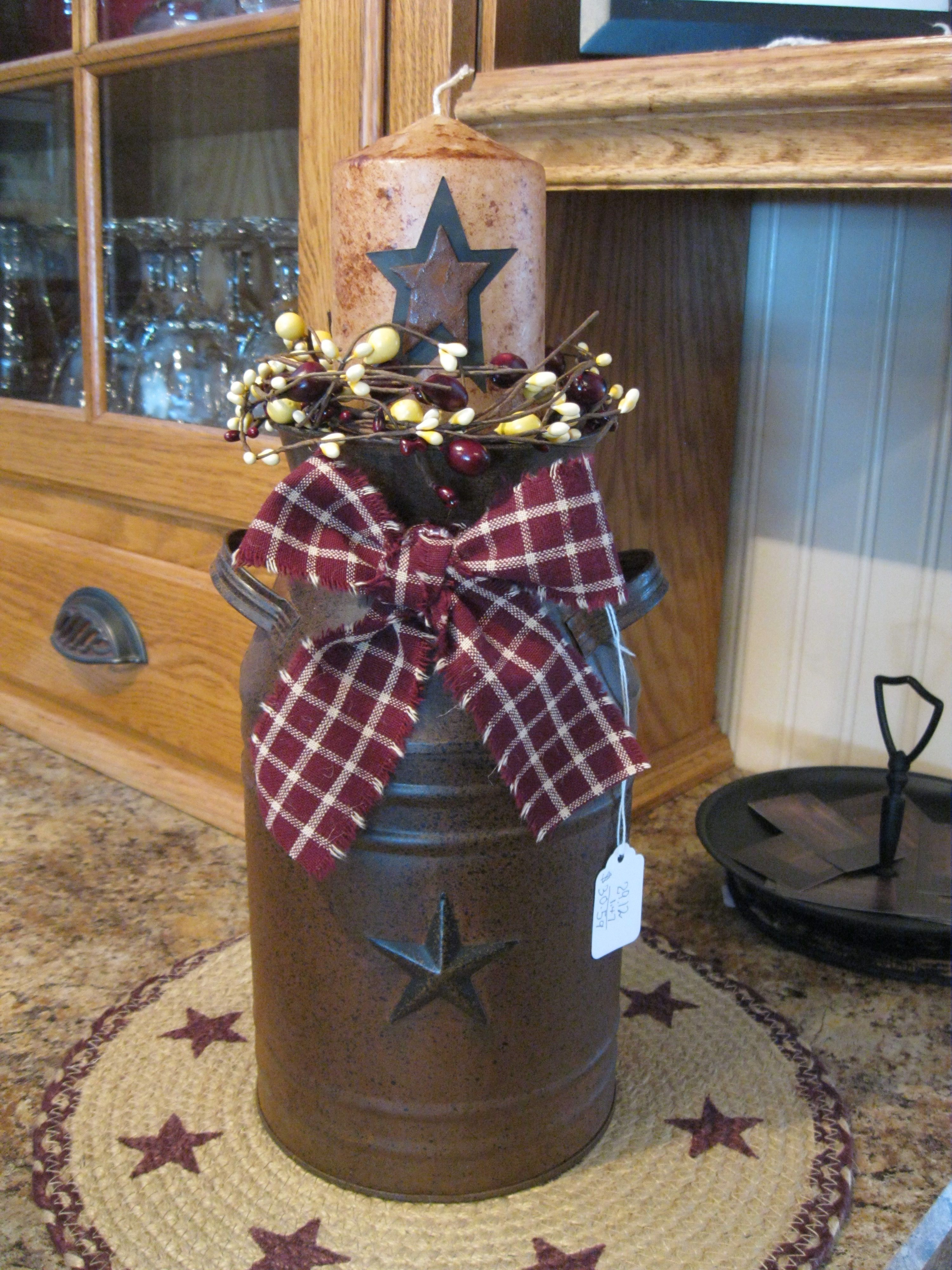 Primitive Can With Star Primitive Things Pinterest