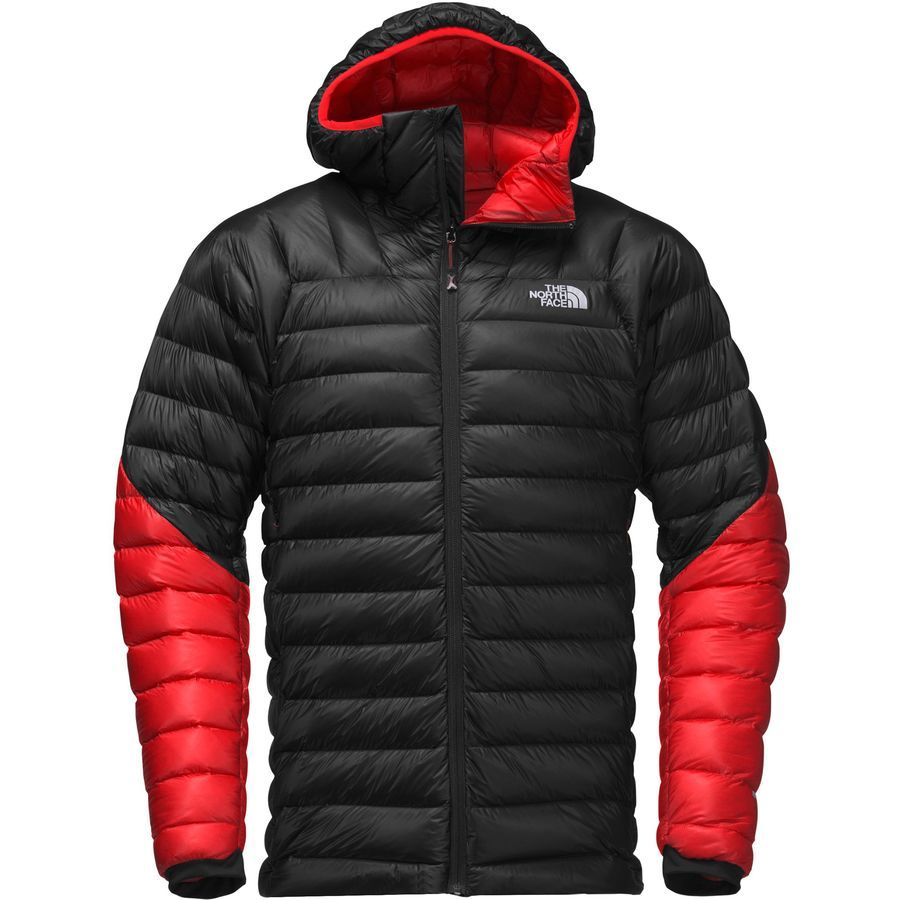 The North Face Summit L3 Hooded Down Jacket Men S Tnf Black Fiery Red Jackets Men Fashion Hoodies Mens Outfits [ 900 x 900 Pixel ]