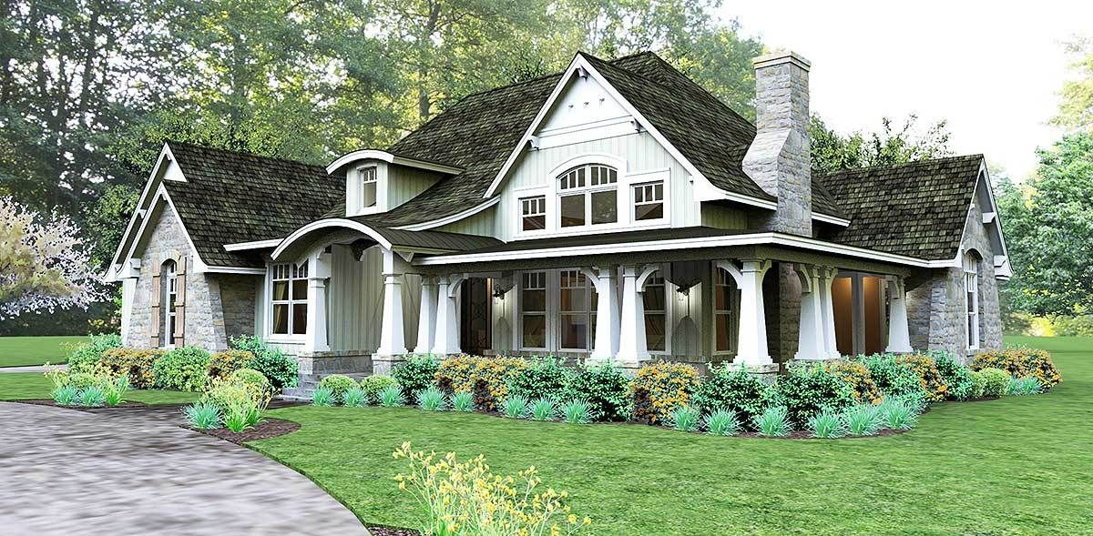 Plan 16862wg Cozy 3 Bed Cottage With Bonus Craftsman Style House Plans Craftsman House Plans Craftsman House