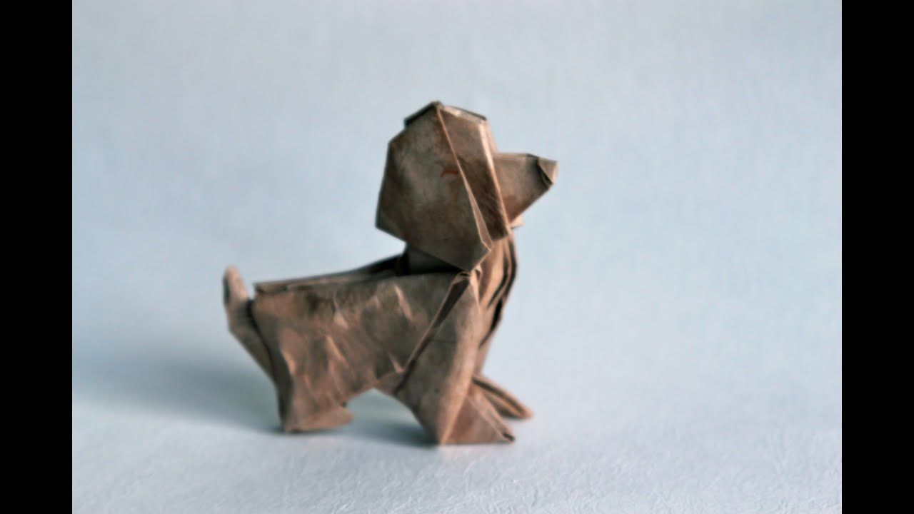 Origami Dog By Patrick Kunz Tomic Animales De Origami Animales De Papel Manualidades