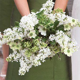 Dogwood And Lilac Wedding Bouquet The Bridesmaids Wore Dresses By Jenny Yoo Carried Bouquets