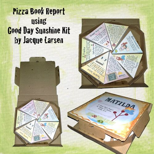My son wanted to do a Book Report in the shape of a pizza So - cereal box book report template