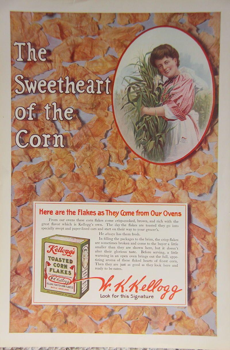 1918 ladies home journal kellogg corn flakes ad sweetheart