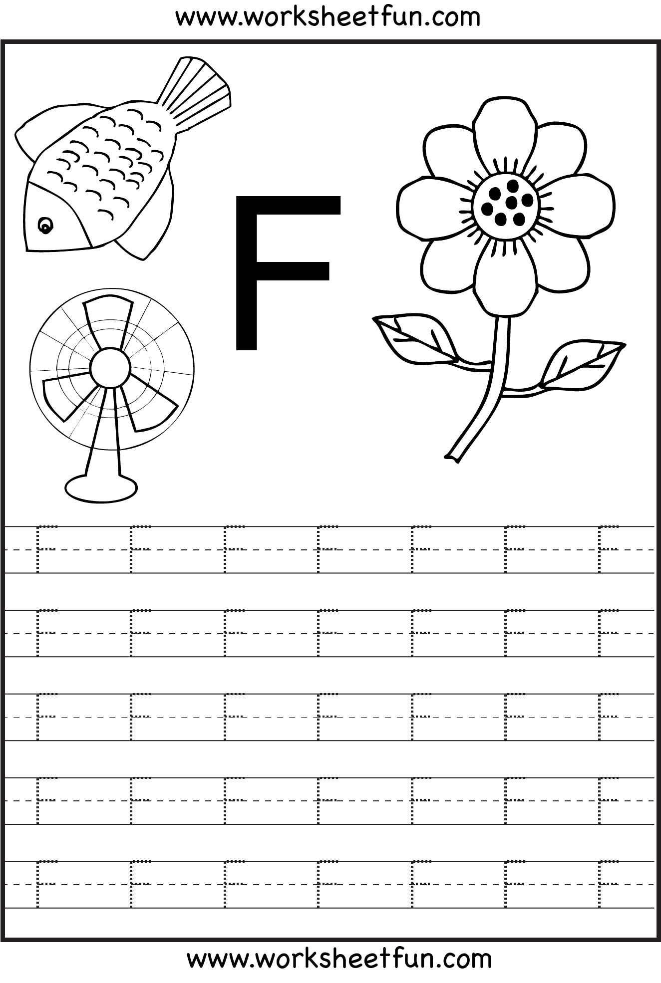 letter f worksheets – Capital Letter Worksheets for Kindergarten