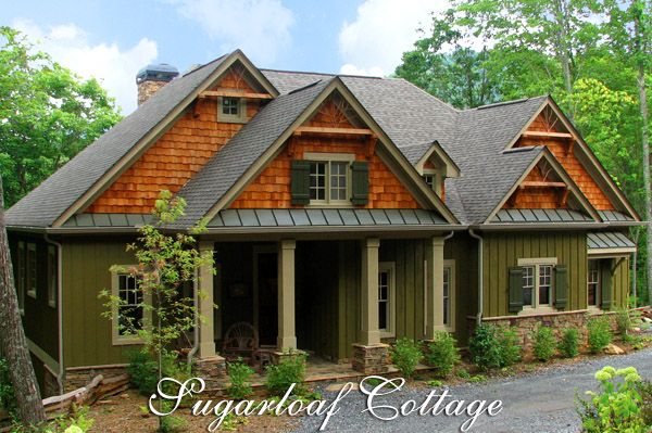 Craftsman Bungalow Style Home Plans | Mountain Style Cottage House Plan    Sugarloaf Cottage | House