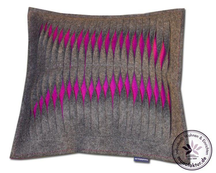 Design Kissen Kara 100 Wolle Wohntrend Filz Kissen