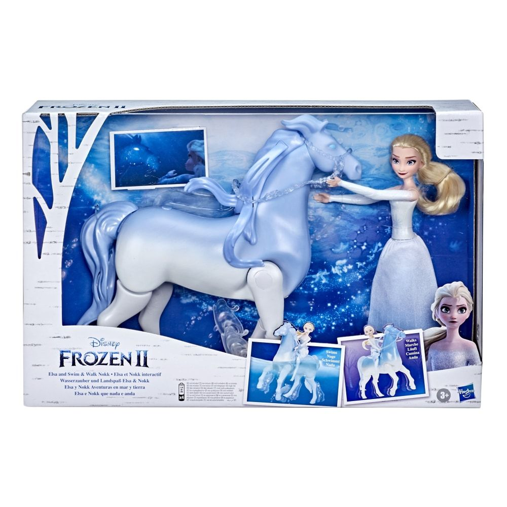Hasbro Disney's Frozen 2 Elsa and Swim and Walk Nokk