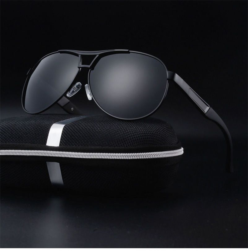 3576aa57ce2 Polarized Sunglasses Men s Retro Aviator Metal Outdoor Drving Eyewear  Glasses