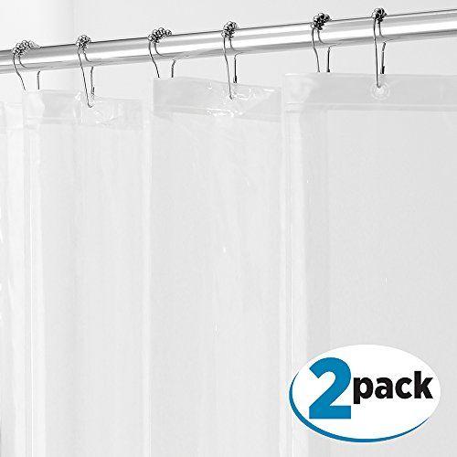 Mdesign Peva 3g Shower Curtain Liner Pack Of 2 Pvc Fre