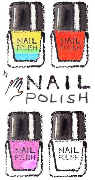 ネイル無料イラスト マニキュアイラスト無料 おしゃれな手描きネイルイラスト素材 nail polish free clip art