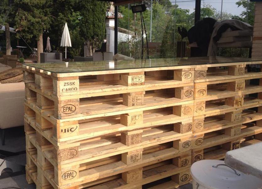 Garten-Bar selber bauen   Pallets