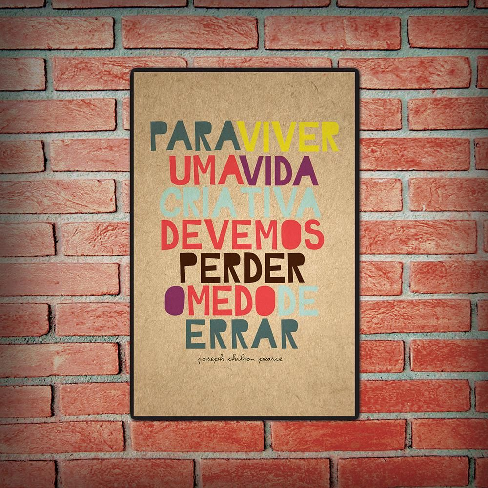 Placa Decorativa 5043 Para Viver uma Vida Criativa - at.home