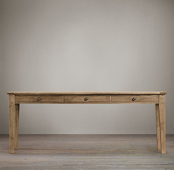 1900s Boulangerie Console With Storage