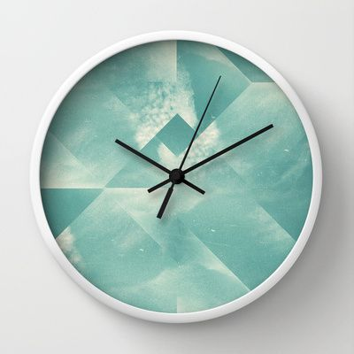 sky for walk Wall Clock by Danny Ivan - $30.00