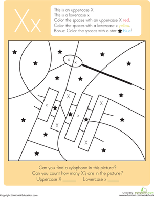 Common Worksheets » Letter X Worksheet - Preschool and ...