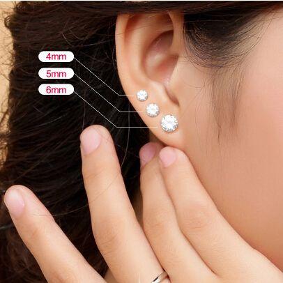 1f1fd4816b0 AGOOD moda takı aksesuarları küçük 925 ayar gümüş kadınlar için ...