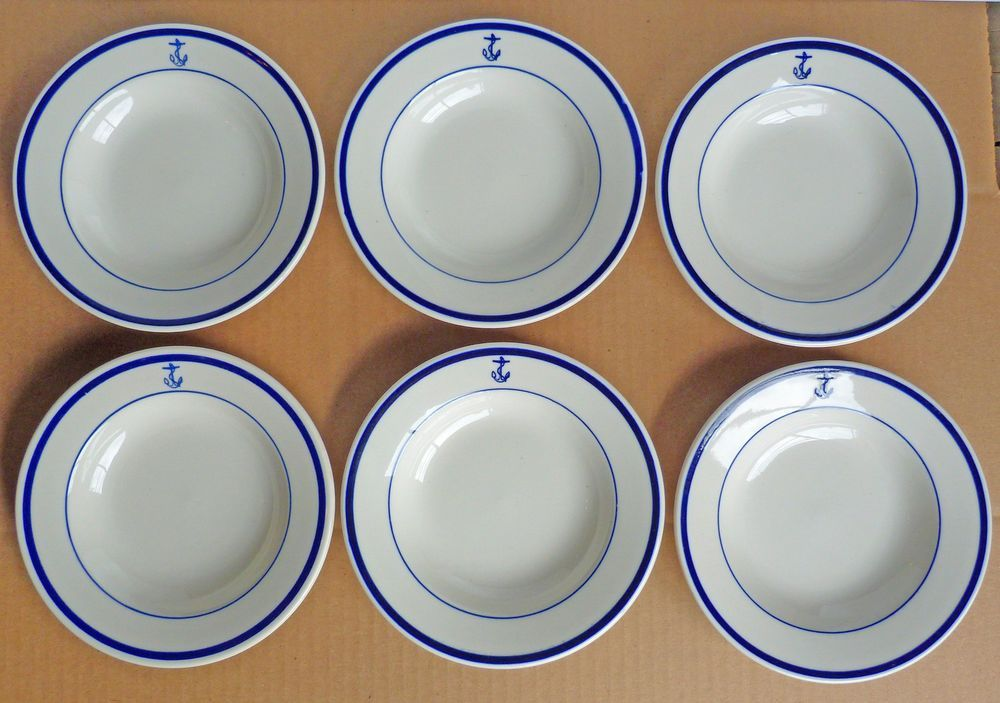 Vintage US Navy Bowl Fouled Anchor Homer Laughlin Best China USN Set 6  sc 1 st  Pinterest : us navy china dinnerware - pezcame.com