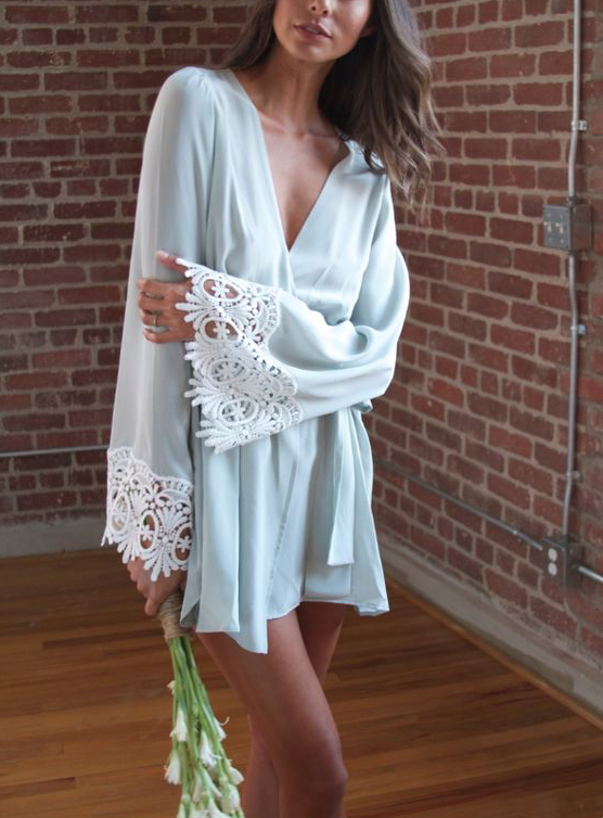 / bridal silk robe /