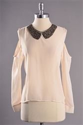 enchanted cream blouse