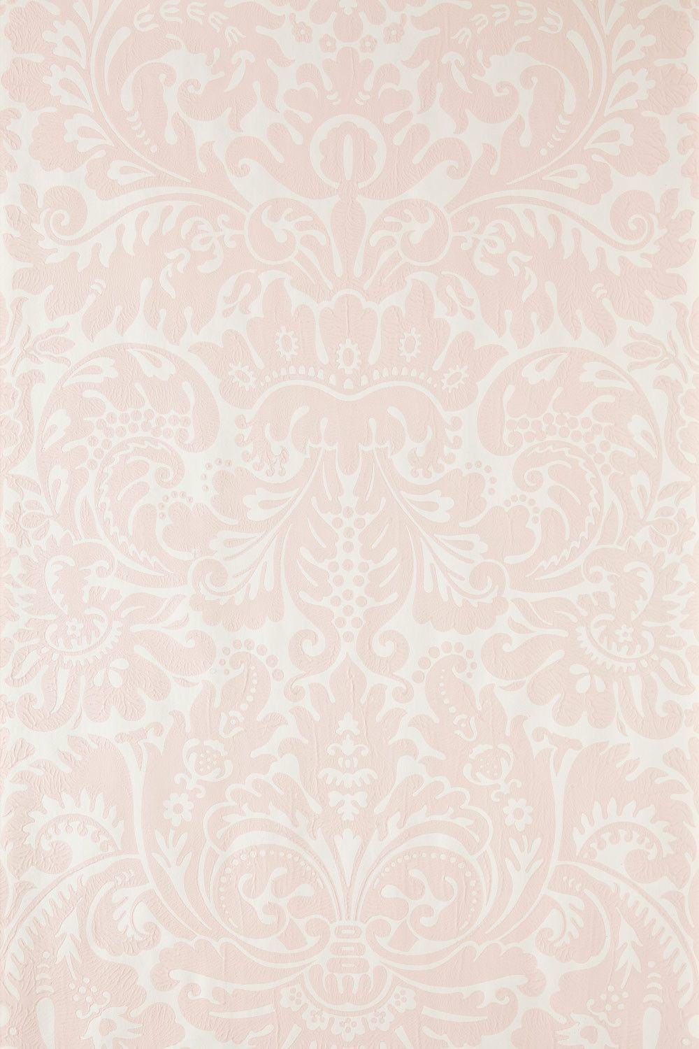 Silvergate Pale pink wallpaper, Pink damask wallpaper