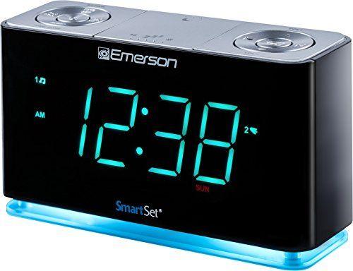 Emerson ER100301 SmartSet Alarm Clock Radio with Bluetooth Speaker
