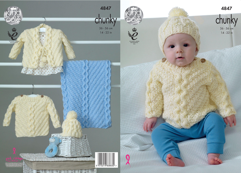 Sweater, Cardigan, Hat & Blanket Knitting Pattern by ThreadbareGifts ...