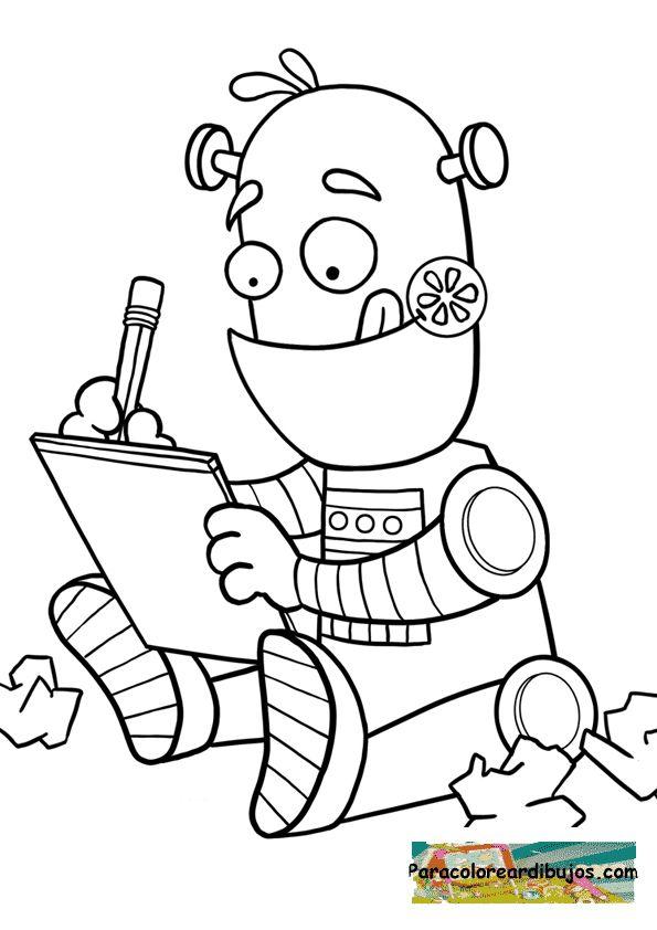 Resultat d\'imatges de dibujos robots para niños | Colorear | Dibujos ...