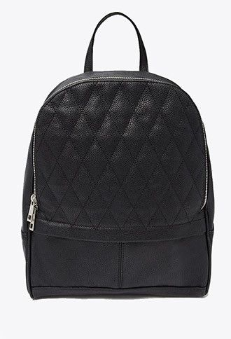 9bbae41444a Quilted Faux Leather Backpack | Forever 21 | #f21accessorize ...