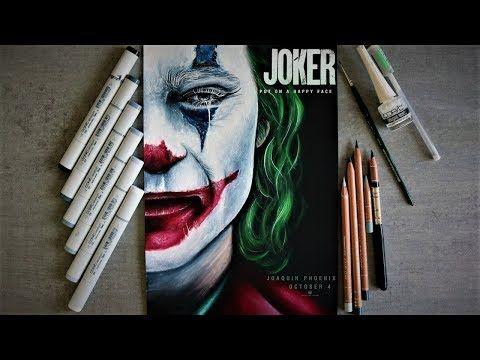 "JOKER Joaquin Phoenix ""Put on a happy face"" timelapse drawing"