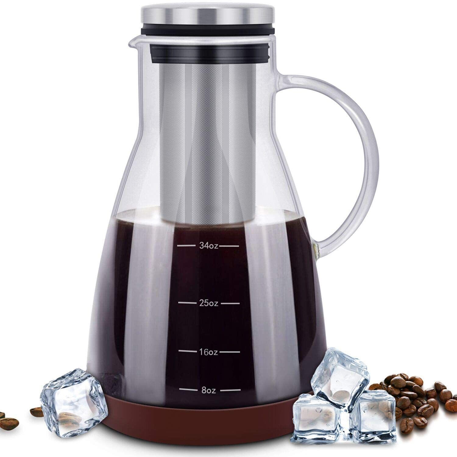ESEOE Cold Brew Iced Coffee Maker,34oz Brewing Glass
