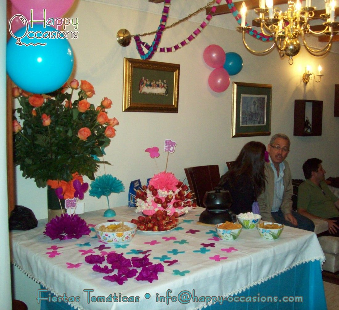 Decoraci n fiesta 30 a os mujer - Decoracion fiesta jardin ...
