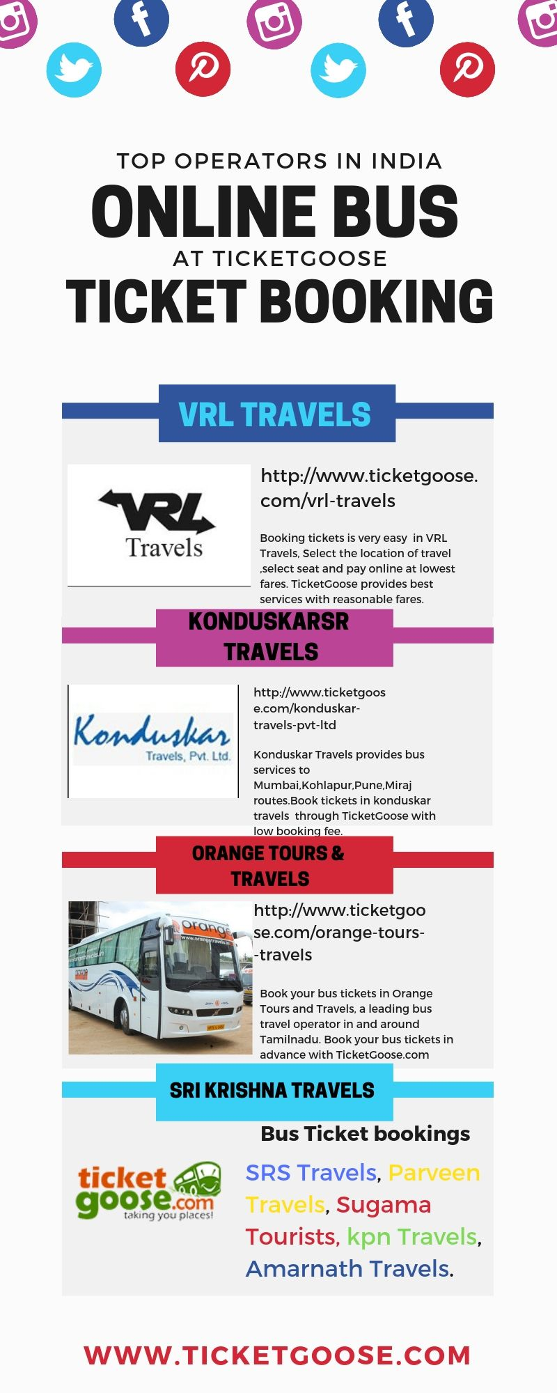 Bus Ticket Booking Ticketgoose Is A Leading Bus Ticketing Portal