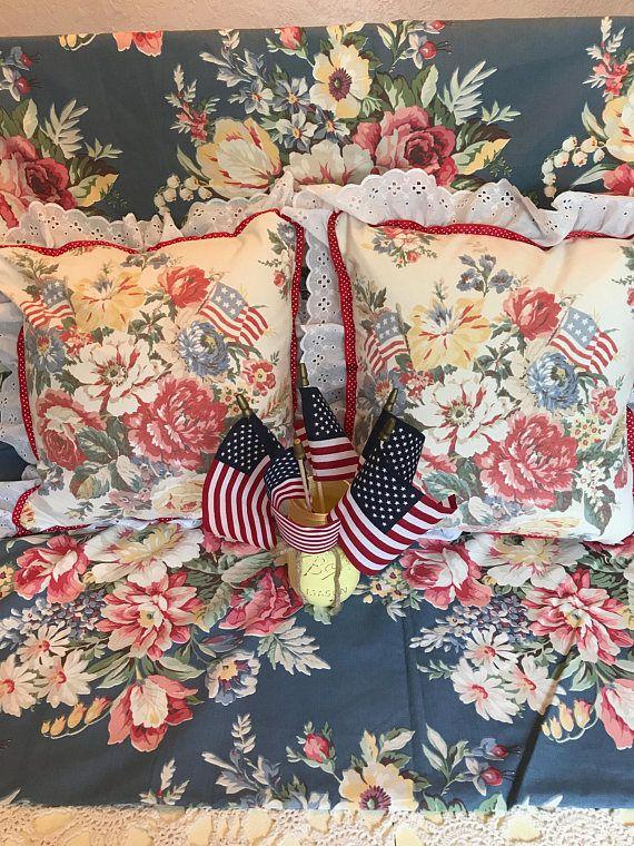 Vintage American Flag Pattern Carpet