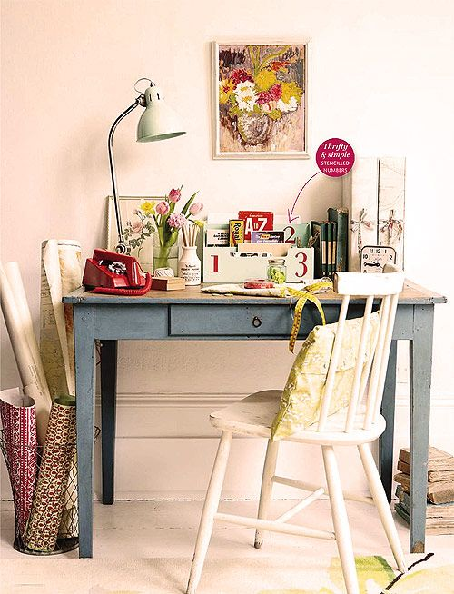 Shabby Chic Desk   This Is Exactly What I Want For My Office Alcove