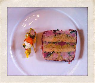 This looks amazing. Ham hock and Foie Gras Terrine w/ Piccalilli.