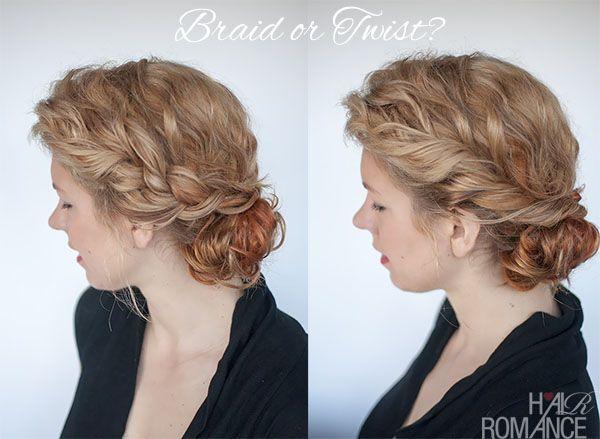 Curly bun hairstyle tutorial - two ways - Hair Romance
